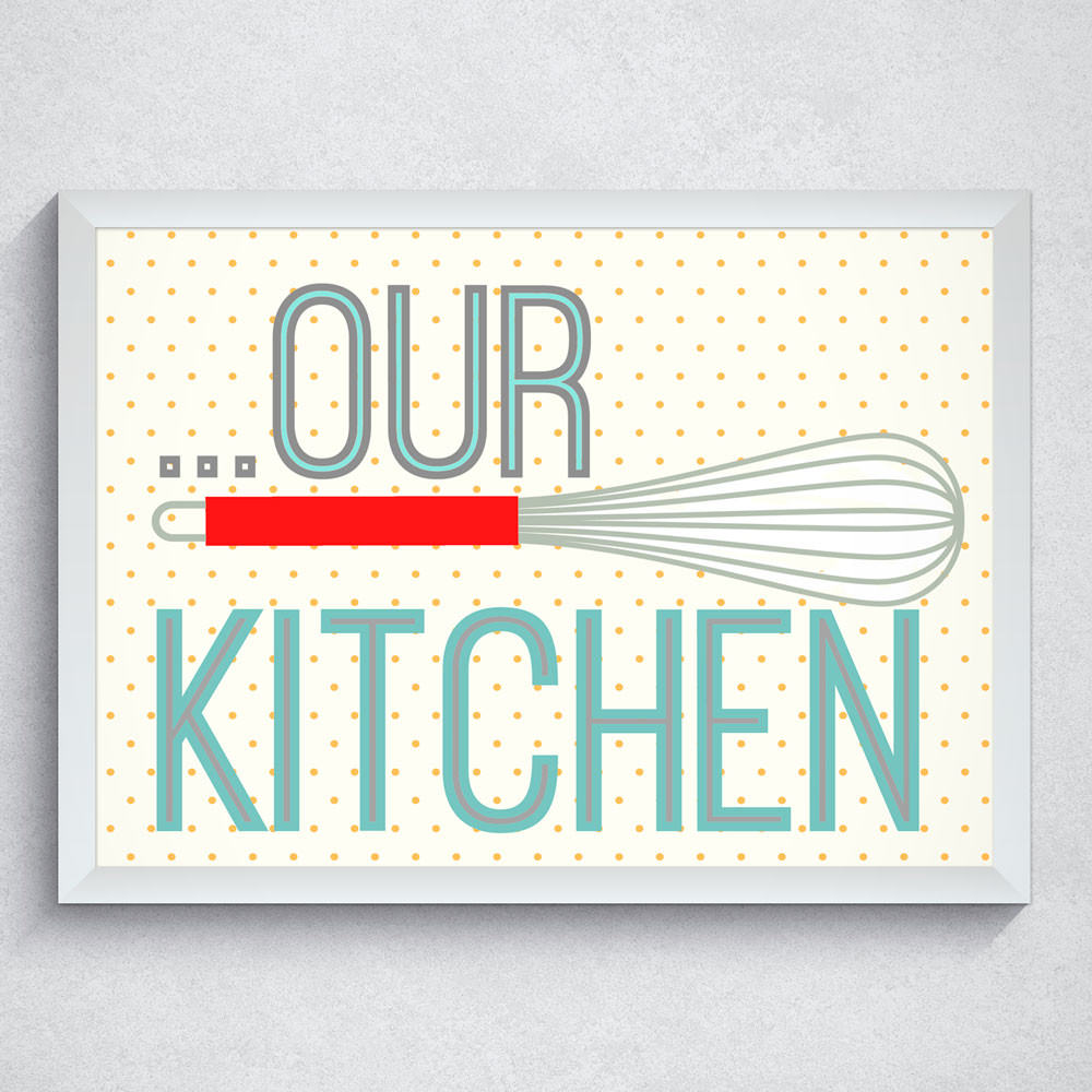"Quadro Decorativo ""Our Kitchen"""
