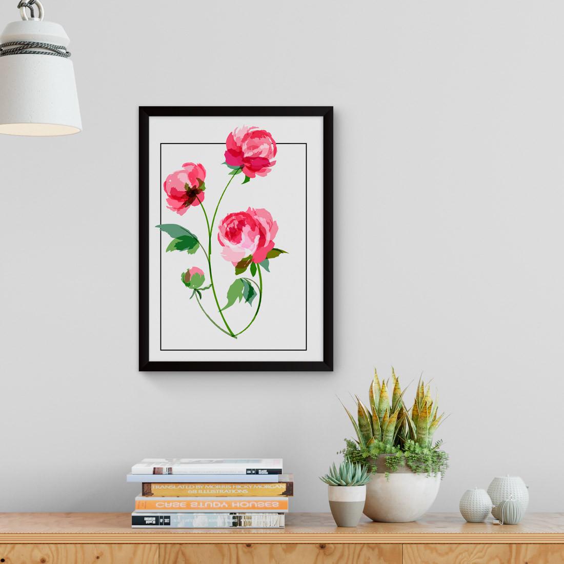 Quadro Decorativo Rosas