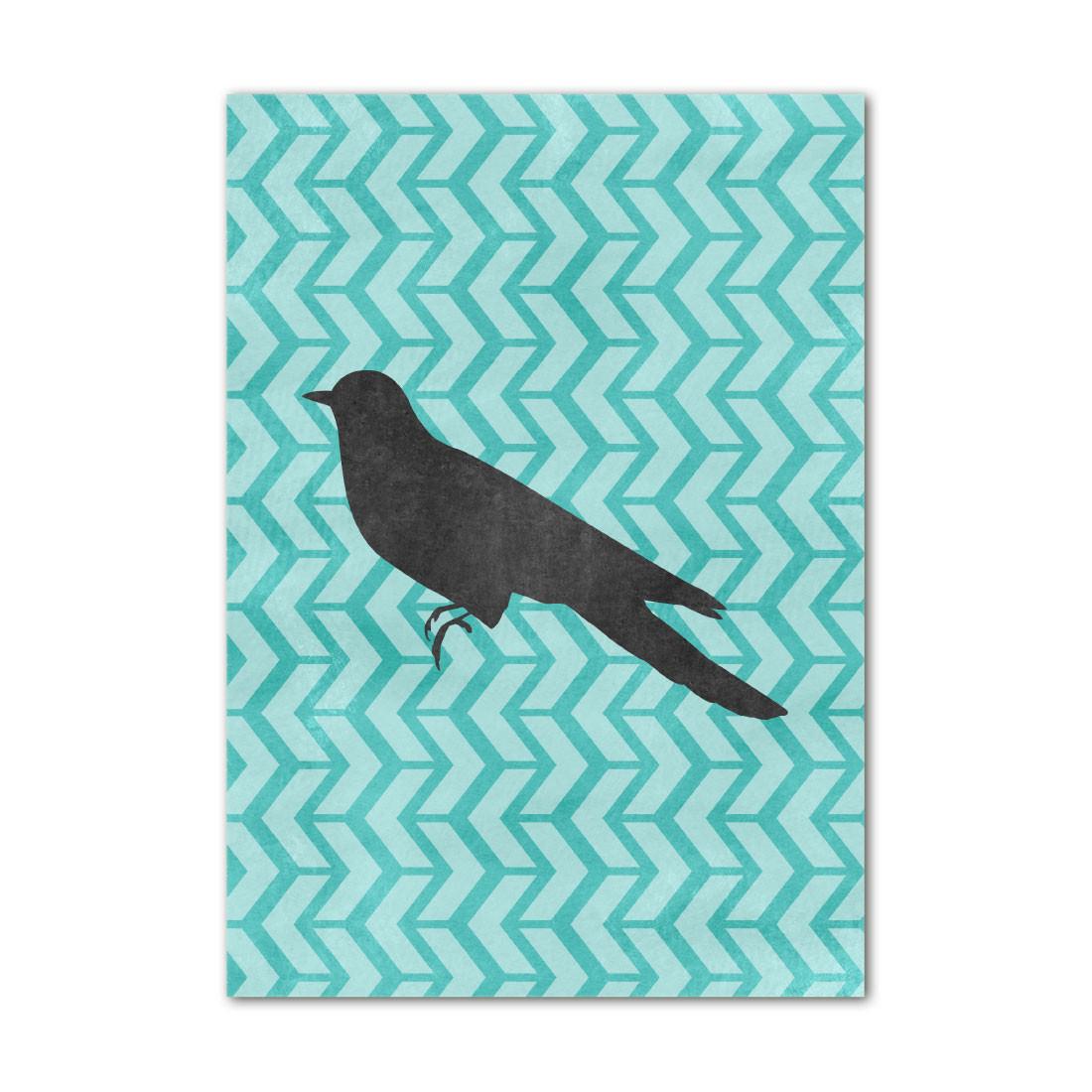 Quadro Decorativo Pássaro Fundo Abstrato