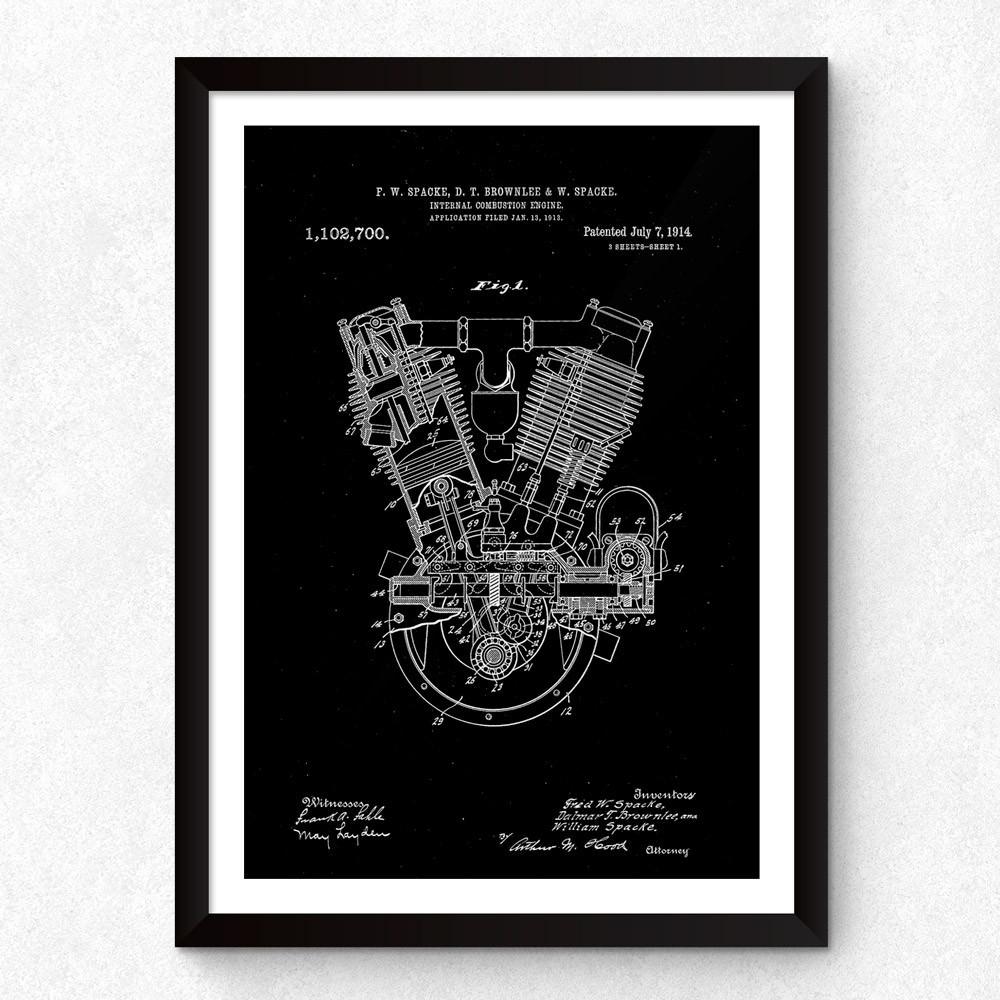 Quadro Decorativo Patente F-Head