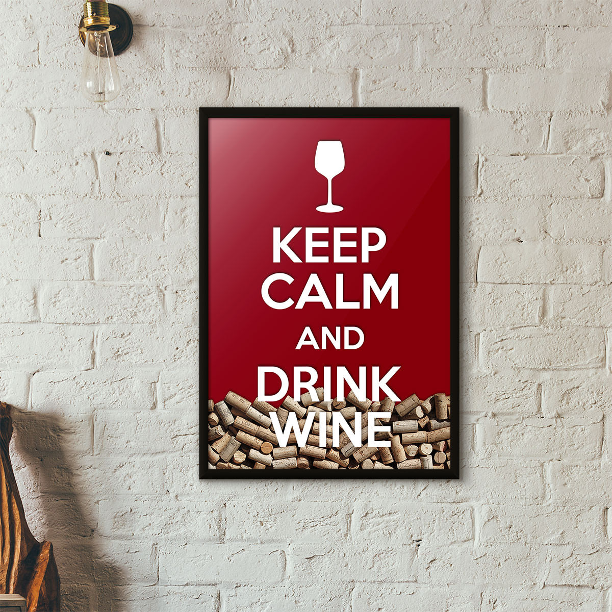 Quadro Porta Rolhas de Vinho -