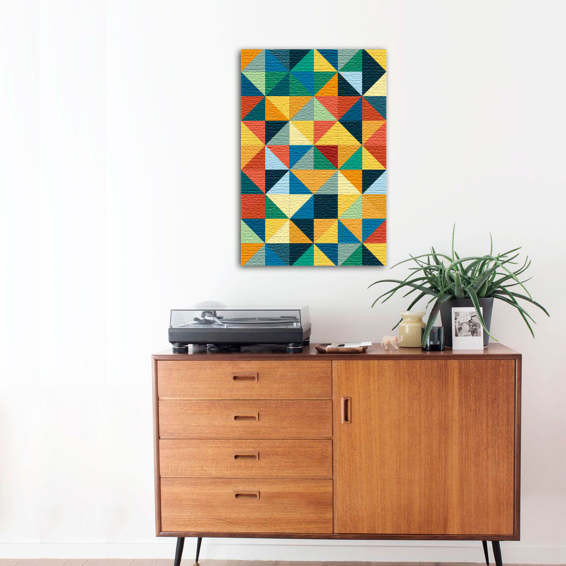 Quadro Decorativo Quadrados Abstrato Colorido