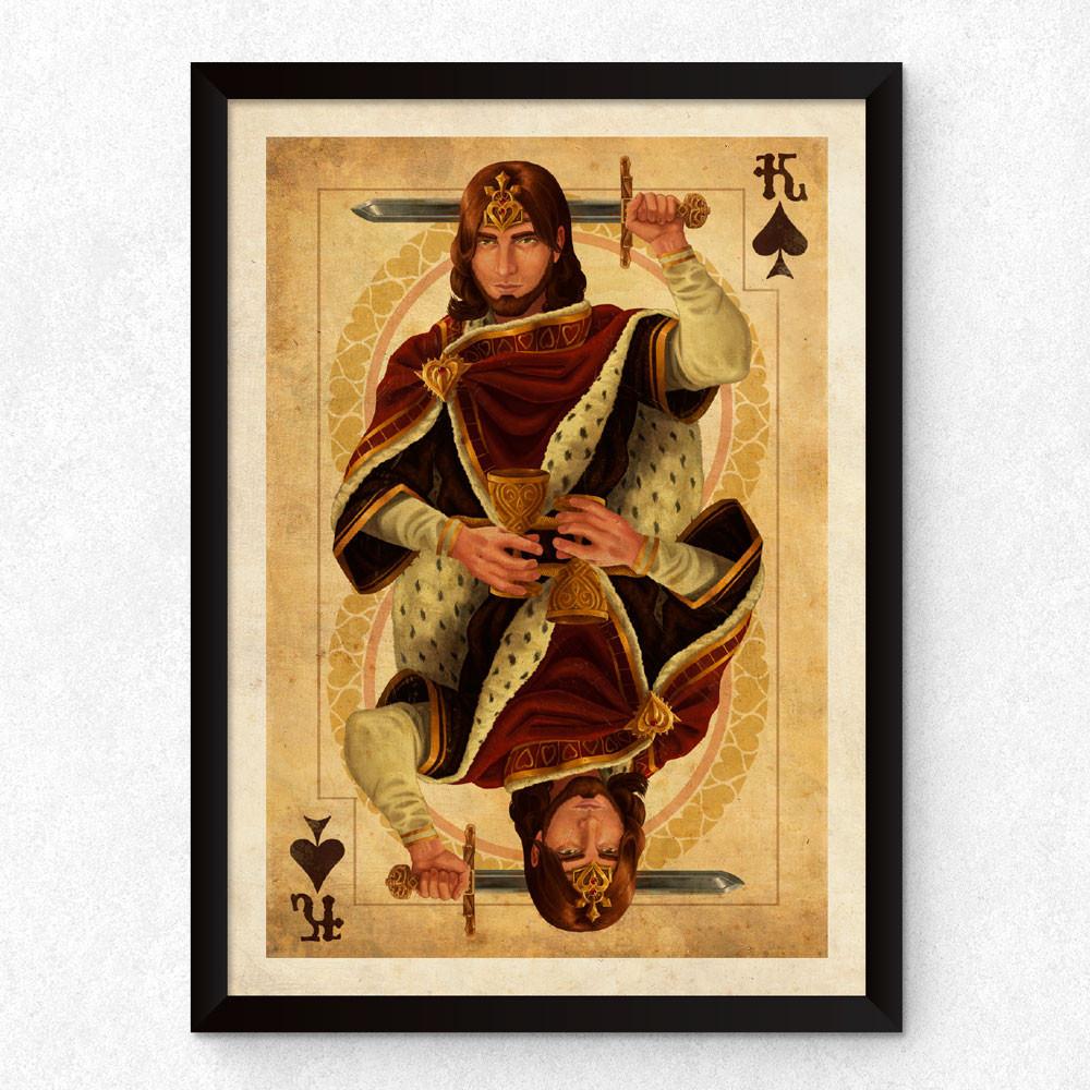 Quadro Decorativo Rei de Espadas