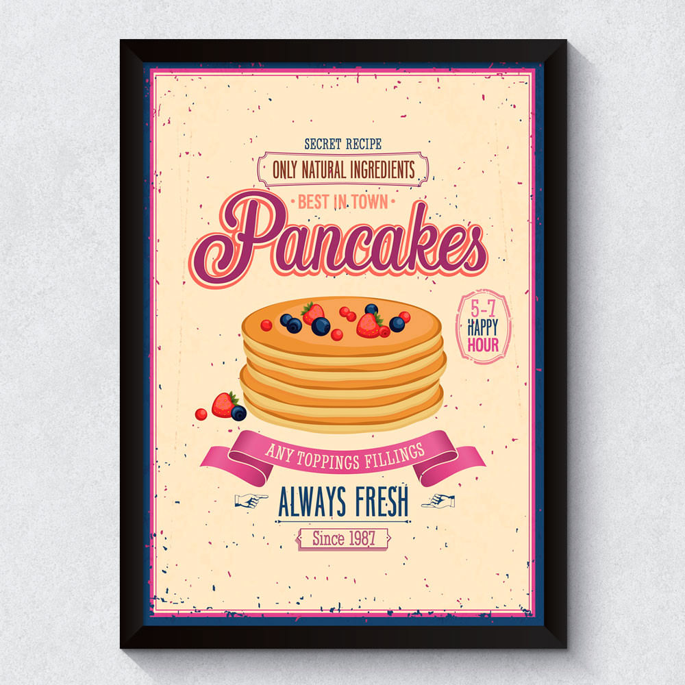 Quadro Decorativo Pancakes