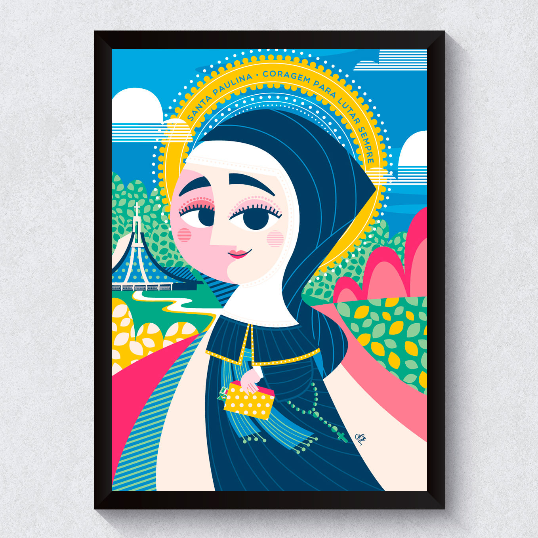 Quadro Decorativo Santa Paulina