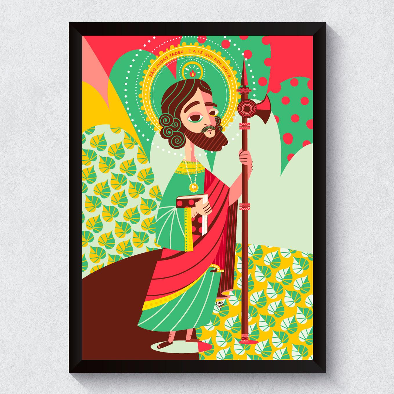 Quadro Decorativo São Judas Tadeu Causas Impossíveis