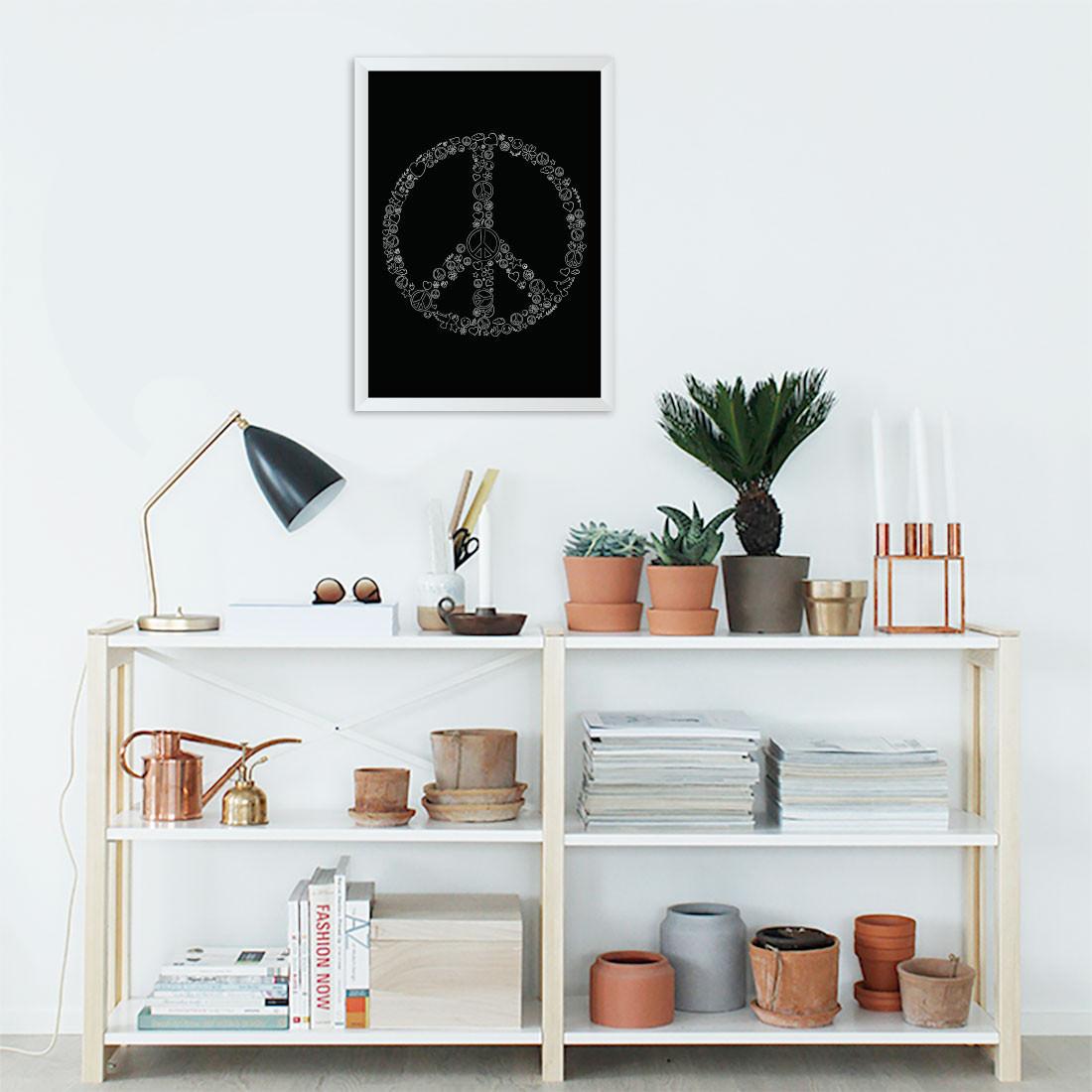 Quadro Decorativo Símbolo da Paz