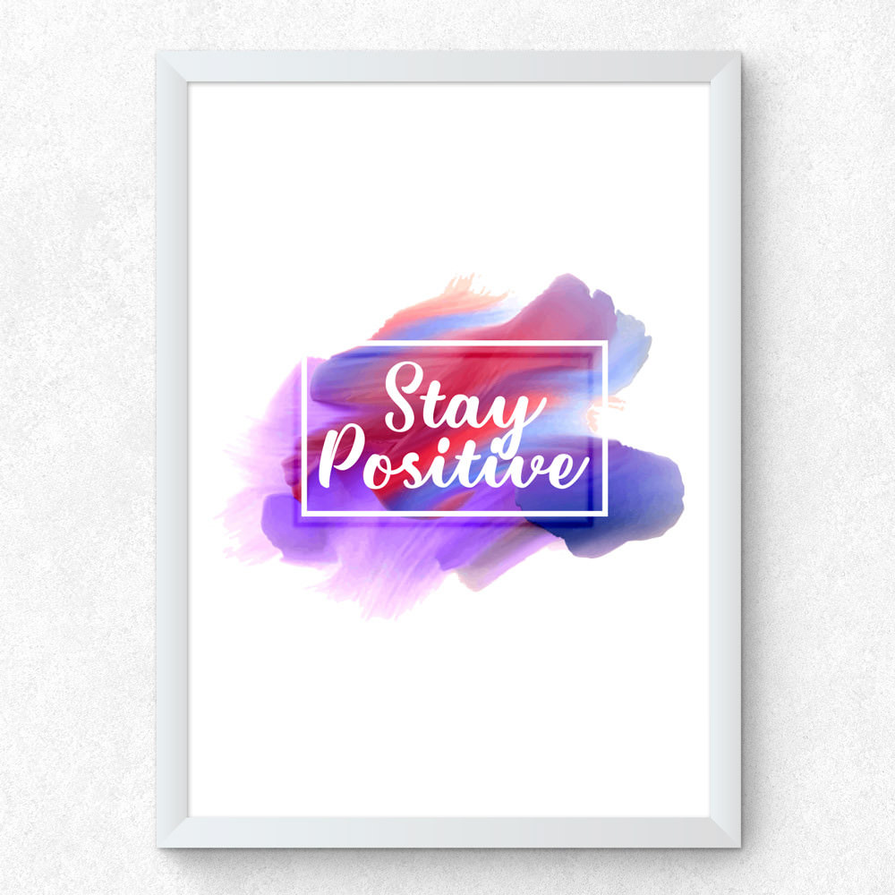 Quadro Decorativo Stay Positive