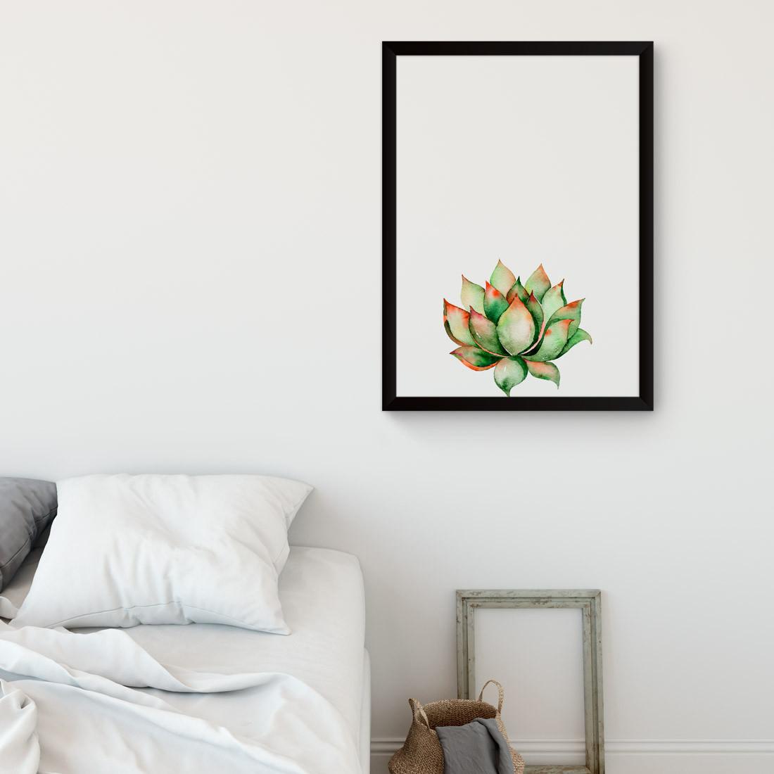 Quadro Decorativo Planta Suculenta