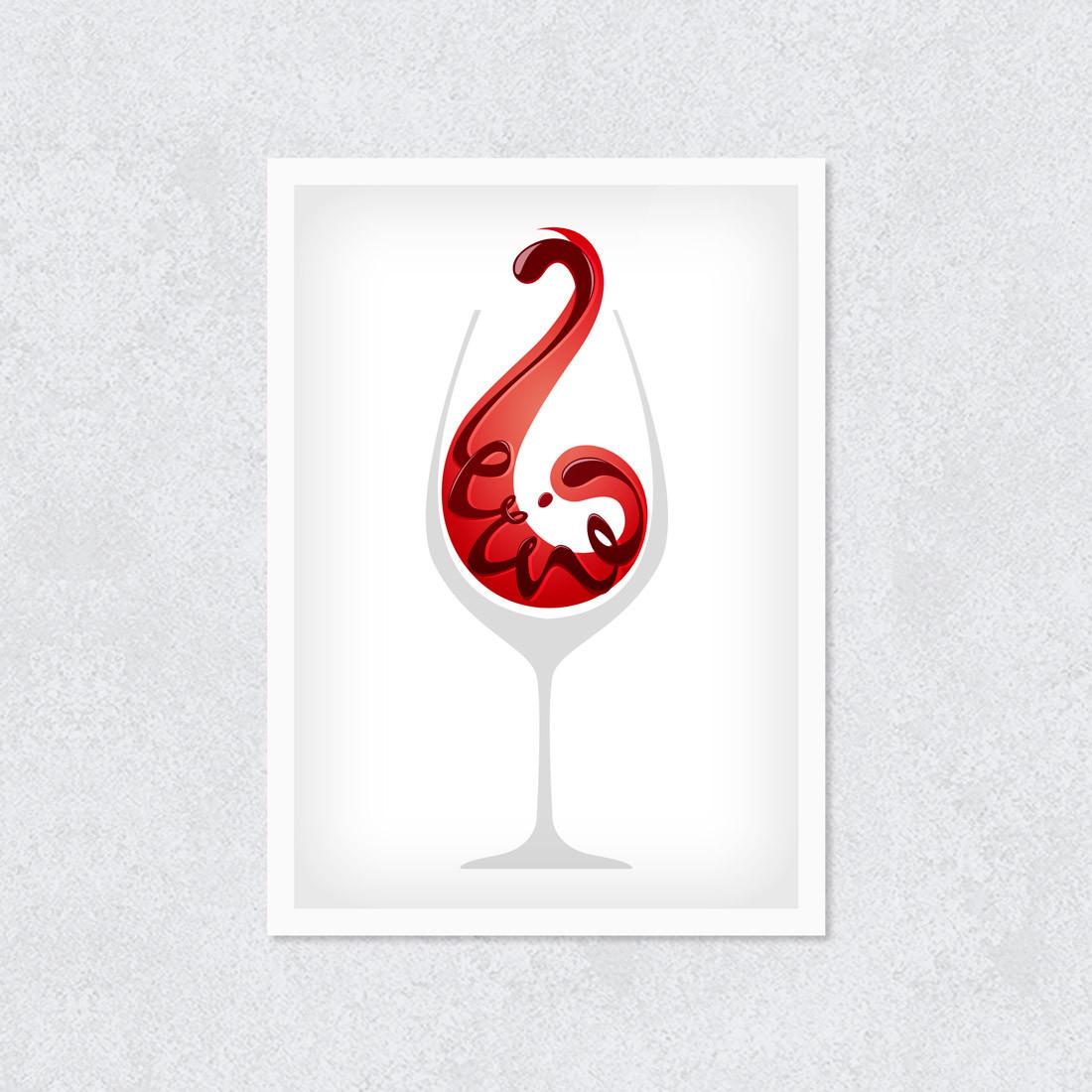 Quadro Decorativo Taça Vinho Tinto
