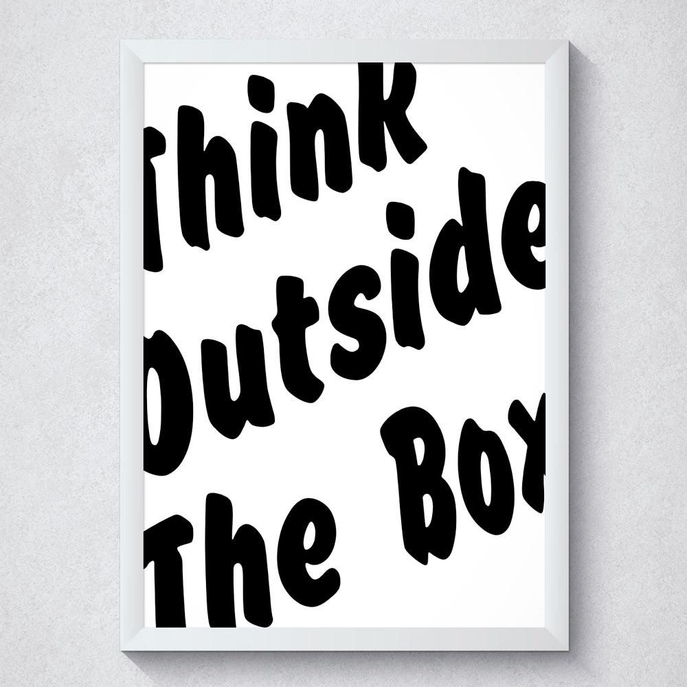 Quadro Decorativo Think Outside The Box