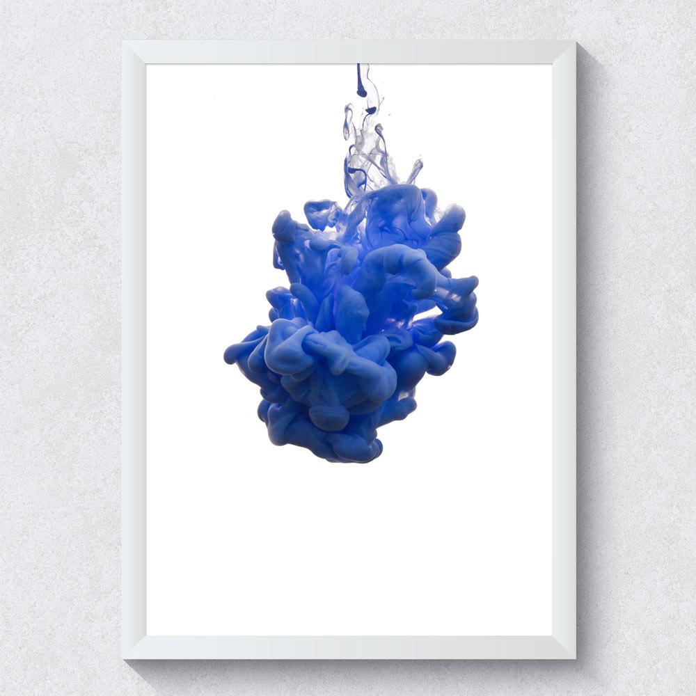 Quadro Decorativo Tinta Azul
