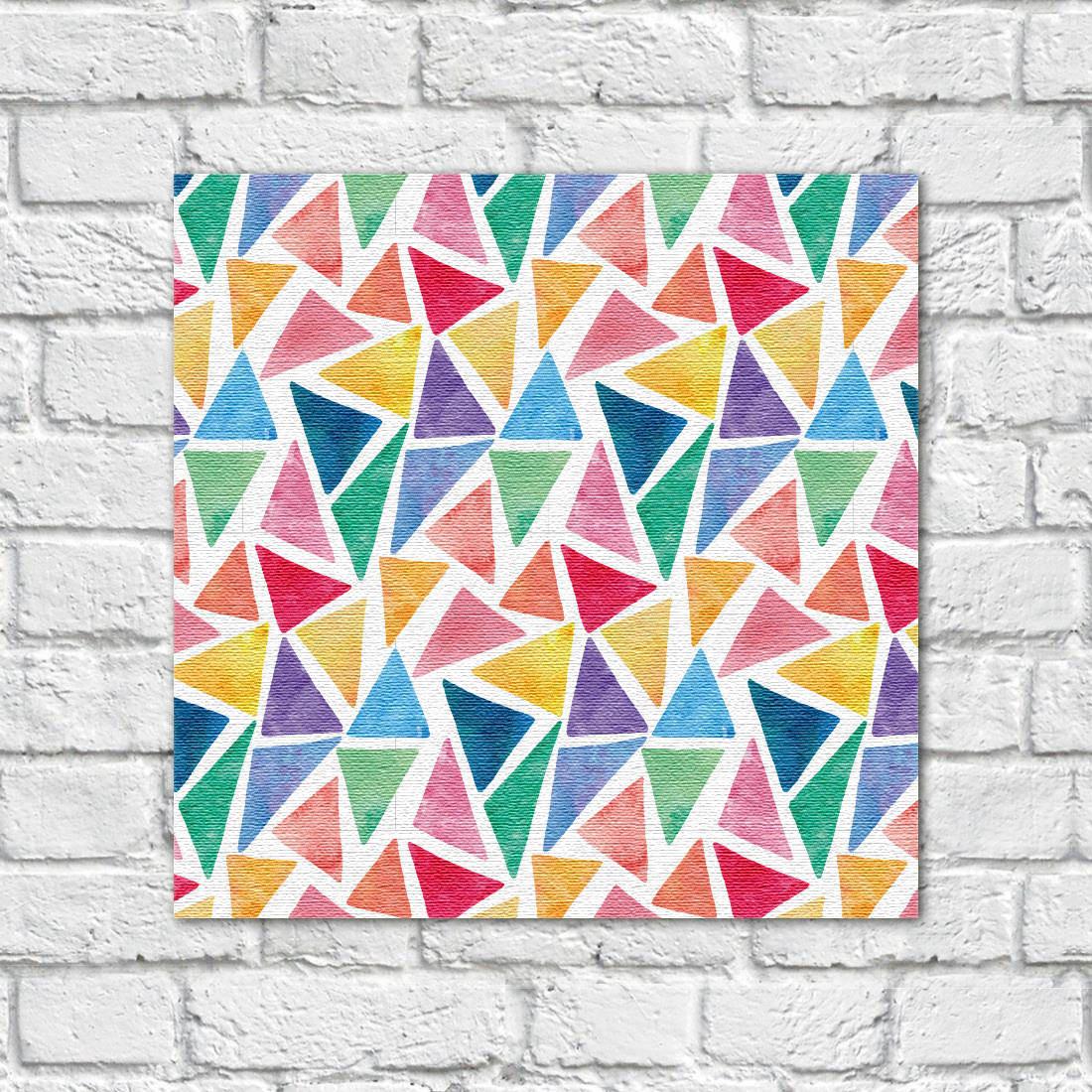 quadro decorativo triangulos coloridos