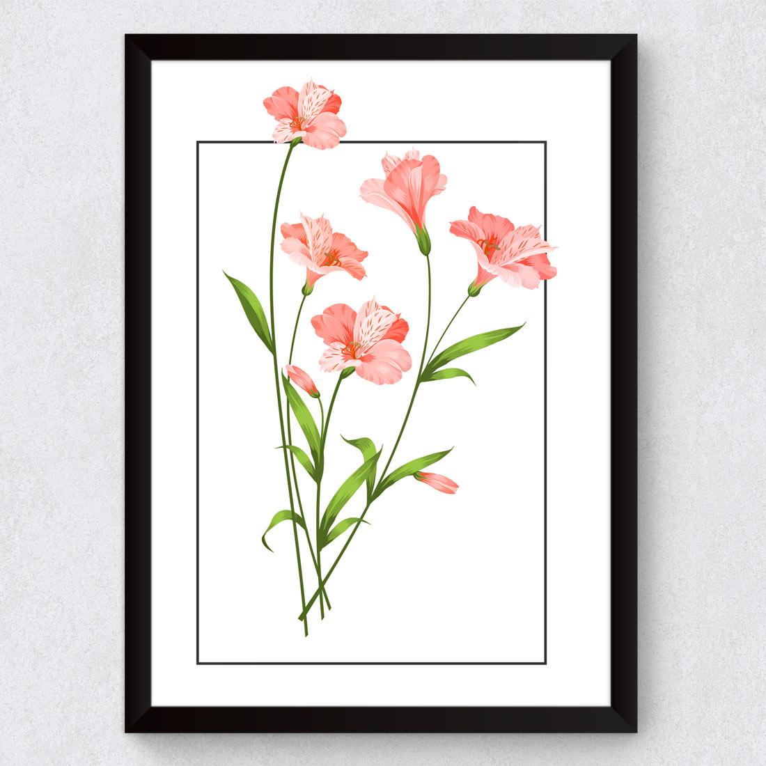 Quadro Decorativo Flores Tropicais Hibiscos