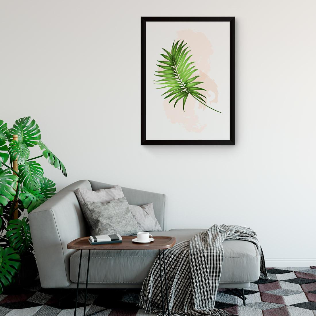 Quadro Decorativo Folha de Coqueiro Tropical