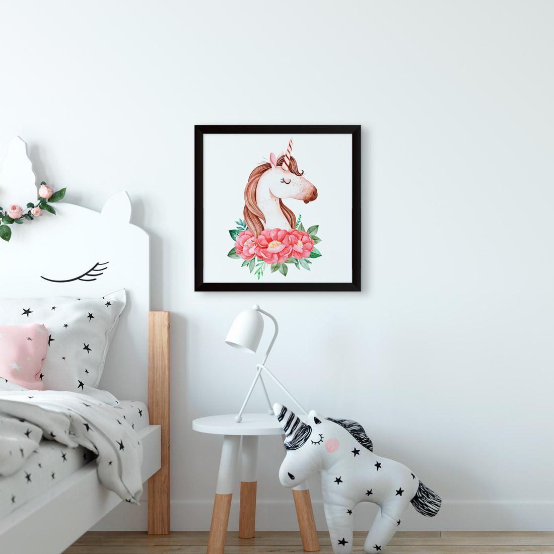 Quadrinho Decorativo Unicórnio Infantil