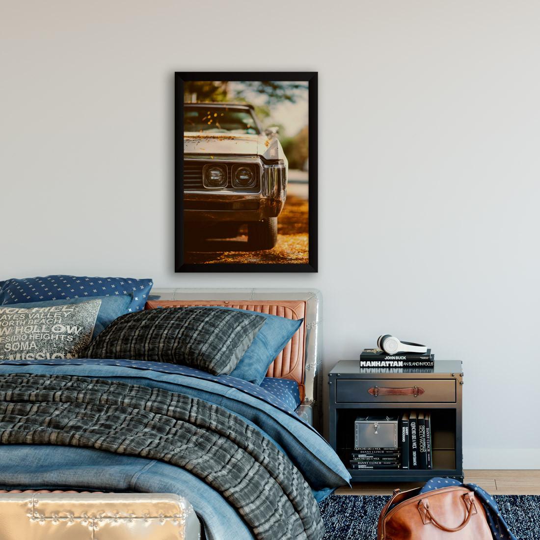 Quadro Decorativo Vintage Carro Antigo