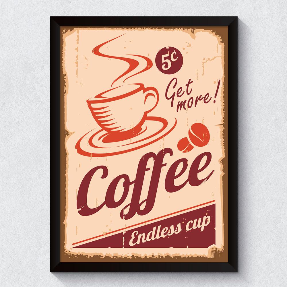Quadro Decorativo Retrô Café