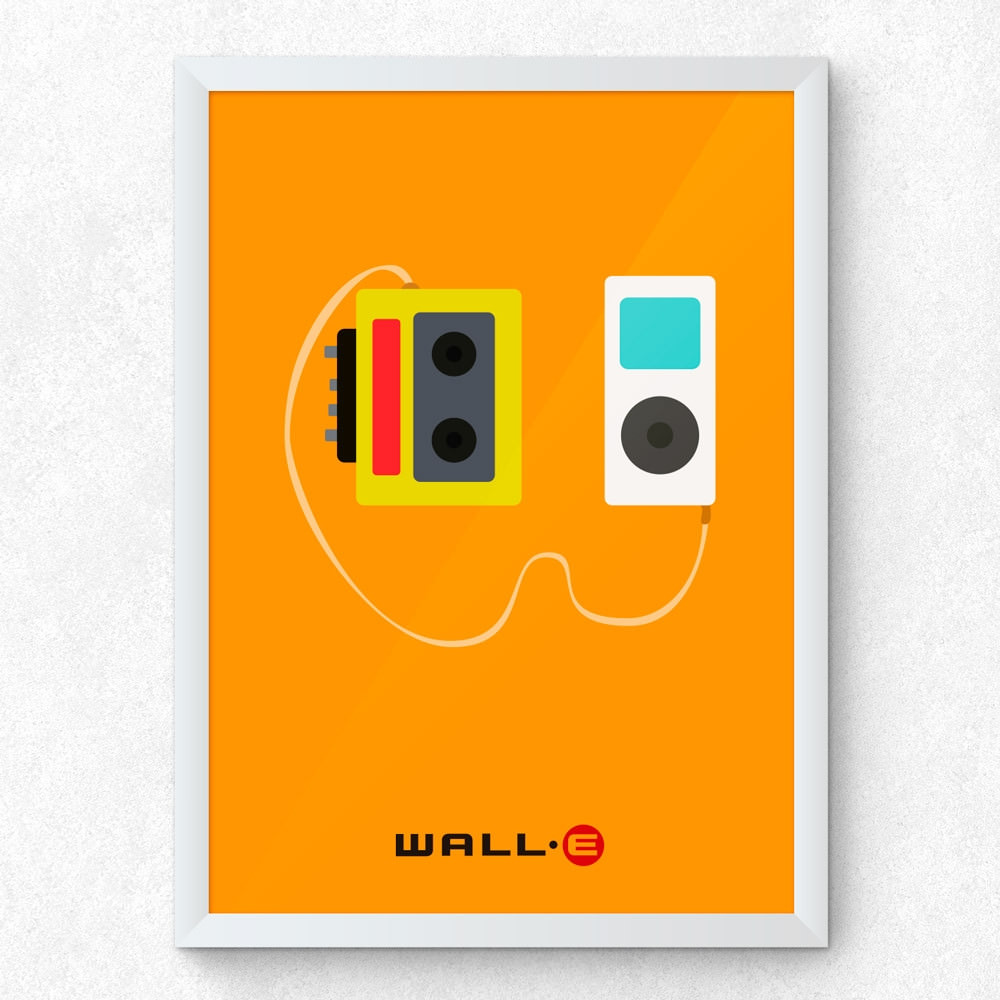 Quadro Decorativo Minimalista Wall-E