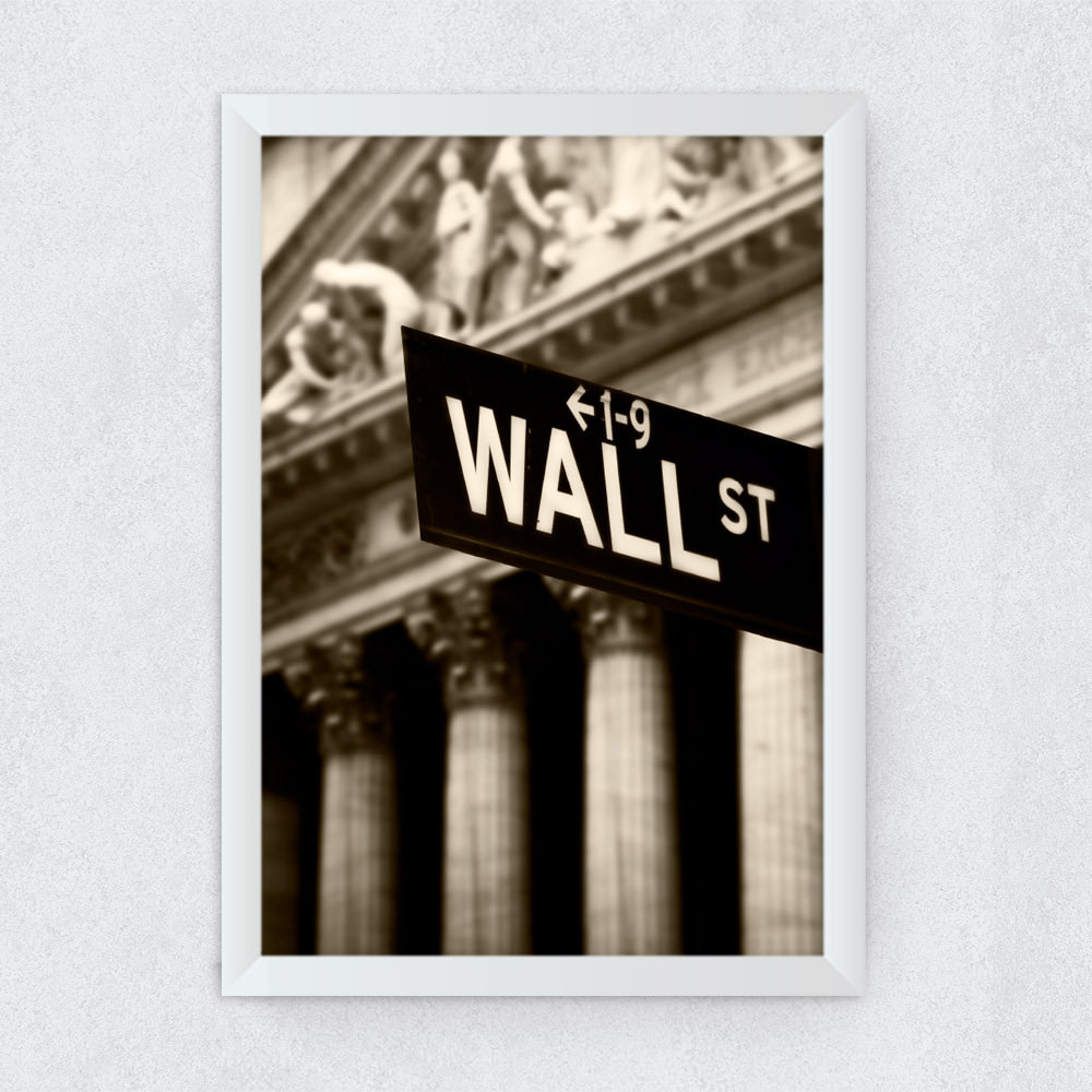 Quadro Decorativo Wall Street New York