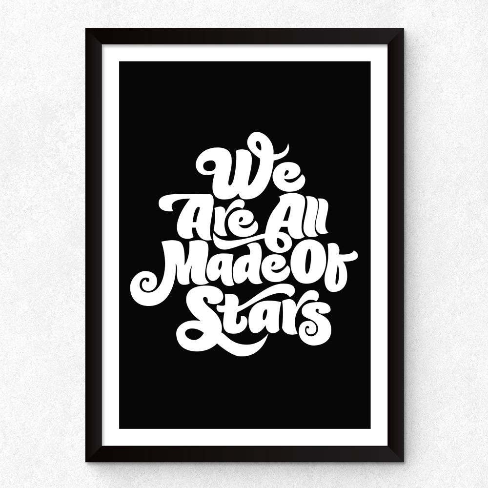 Quadro Decorativo We Are All Made Of Stars (Preto)