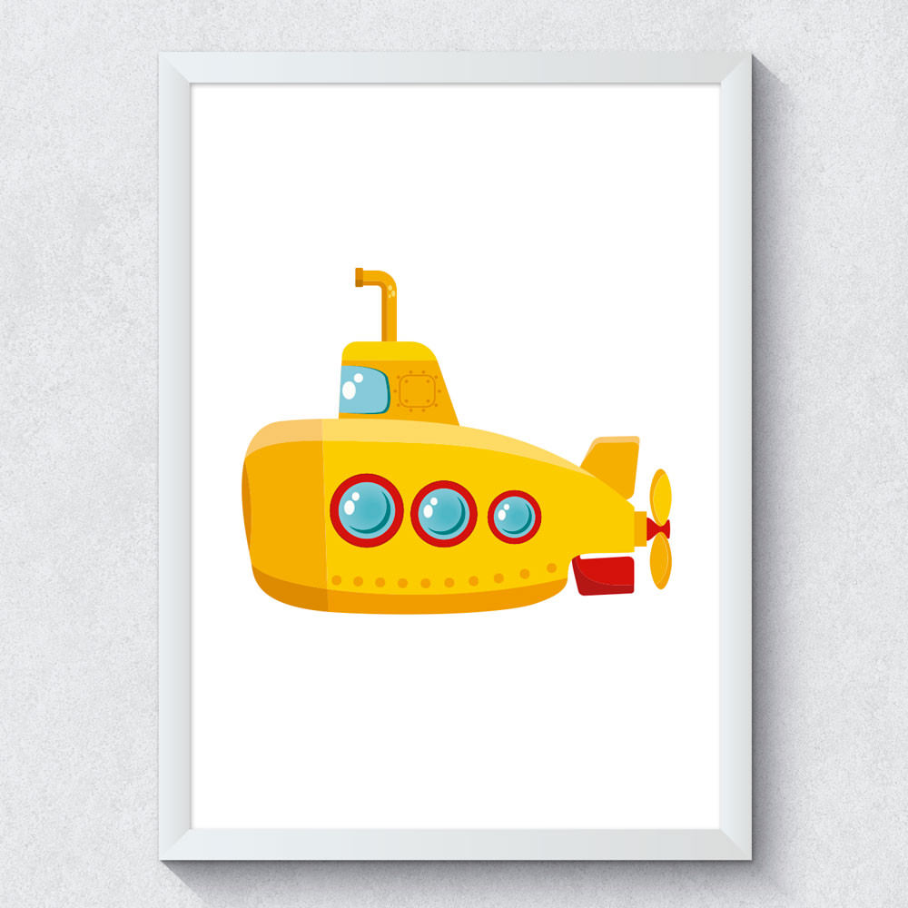 Quadro Decorativo Yellow Submarine