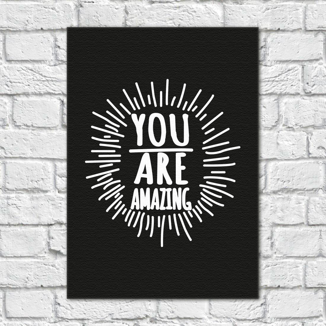 Quadro Decorativo You Are Amazing (Preto)