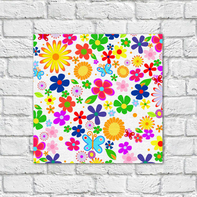 Quadro Decorativo Estampa Floral