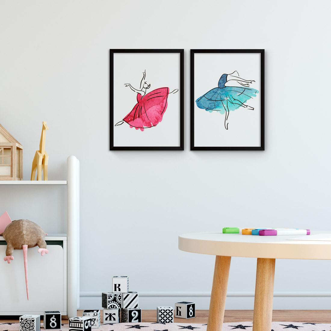 Conjunto de Quadros Decorativos Bailarinas Balé