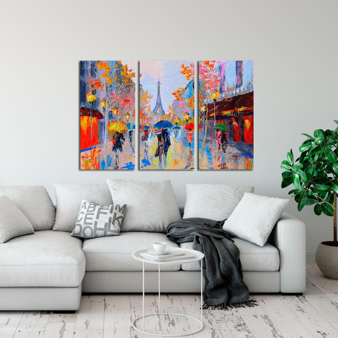 Conjunto de Quadros Decorativos Torre Eiffel Paris