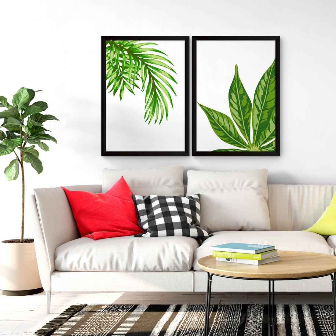 Quadros Decorativos Palmeiras Tropicais