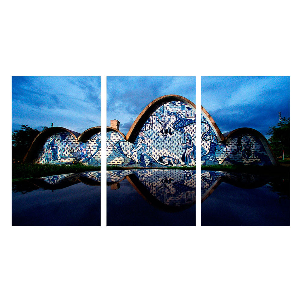 Conjunto de Quadros Decorativos Igreja São Fancisco de Assis Niemeyer