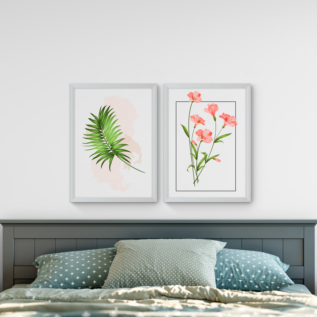 Conjunto de Quadros Decorativos Hibisco Tropical