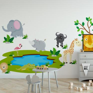 Adesivo de Parede Animais Safari