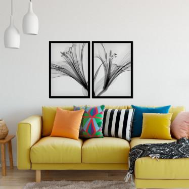 Conjunto de Quadros Decorativos Minimalista Lírios