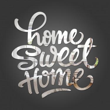 """Espelho Decorativo Frase """"Home Sweet Home"""""""