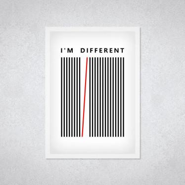 "Quadro Decorativo ""I Am Diferent"""
