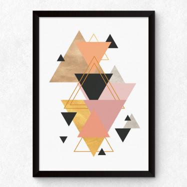 Quadro Decorativo Triângulos