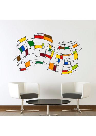 Adesivo Decorativo de Parede Abstrato