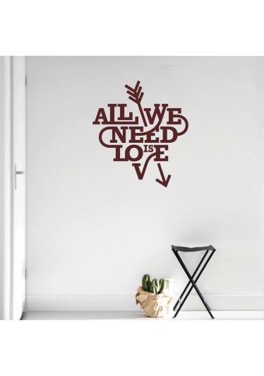 Adesivo Decorativo All You Need Is Love II