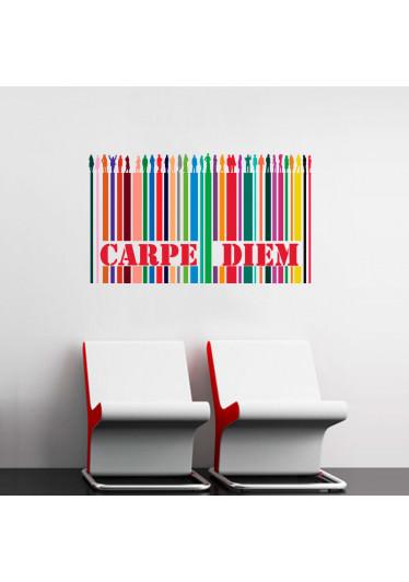 Adesivo Decorativo Carpe Diem Colorido