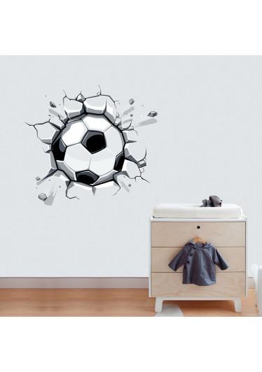 Adesivo de Parede Infantil Bola de Futebol