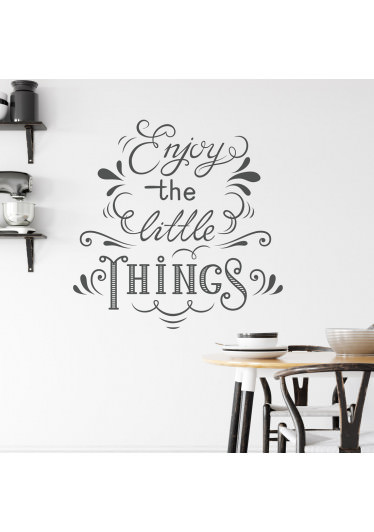 Adesivo de Parede Lettering Enjoy the Little Things