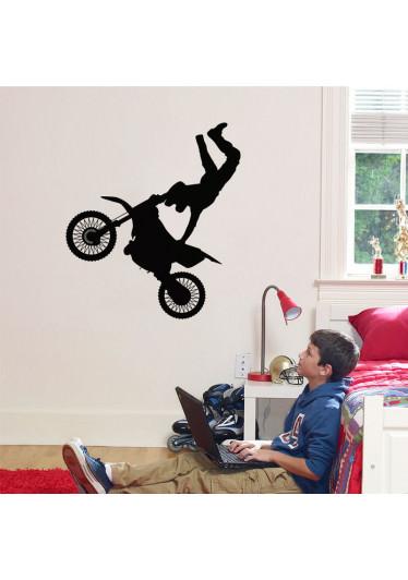 Adesivo de Parede Adolescente Motocross