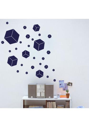 Adesivo Decorativo Quadrados 3D