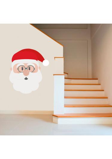 Adesivo de Parede Rosto do Papai Noel