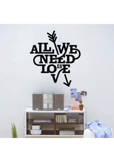 Adesivo Decorativo de Parede All You Need Is Love II