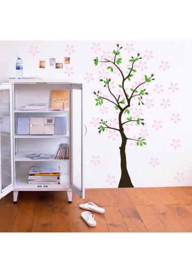 Adesivo Decorativo de Parede Árvore Com Flores