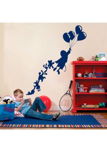 Adesivo Decorativo Criança e Balões