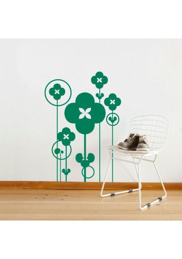 Adesivo Decorativo de Parede Bosque de Flores